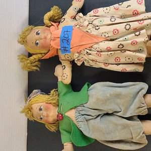 Auction Thumbnail for: Lot # 207 Lot of Cute Vintage Dolls