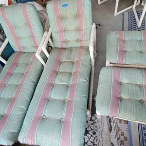 Auction Thumbnail for: Lot # 268 Set of 2 Patio Loungers and Stools