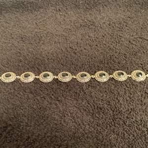 Auction Thumbnail for: Lot # 126 Beautiful Sterling Silver/ Black Onyx Bracelet. 16.65 Grams