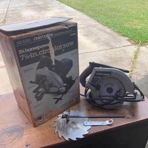 """Auction Thumbnail for: Lot # 247 Craftsman 2 1/4 Horsepower 7 1/4"""" Circular Saw. Nice Condition"""