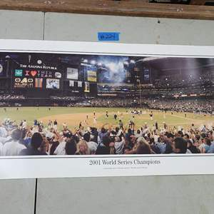 """Auction Thumbnail for: Lot # 224 The Rob Arra Collection-Panoramic Photo """"2001 World Series Champions"""""""