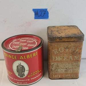 Auction Thumbnail for: Lot # 357 Vintage Prince Albert & Royal Dream Cigar Tins