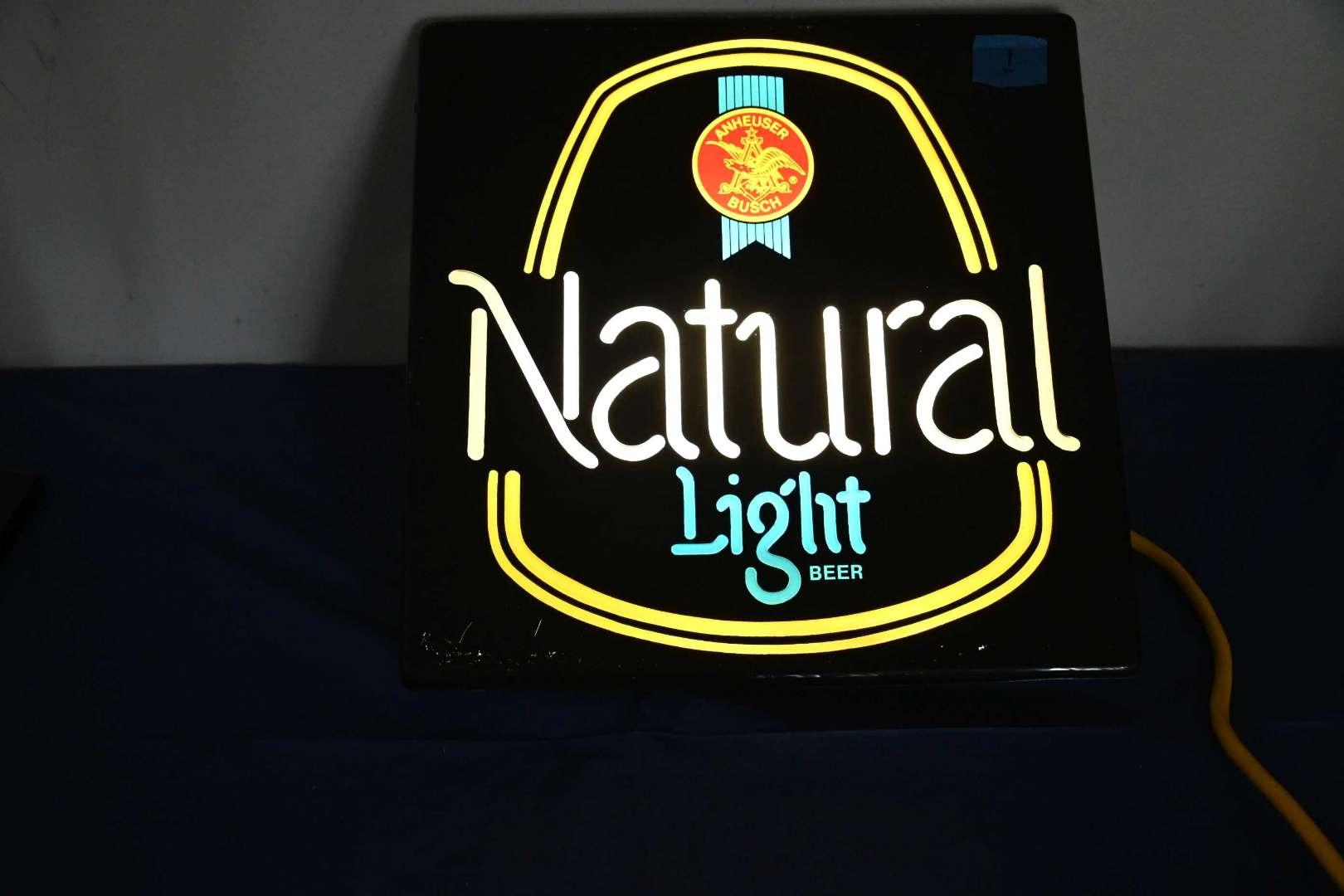 Lot # 1 NATURAL LIGHT lighted beer sign