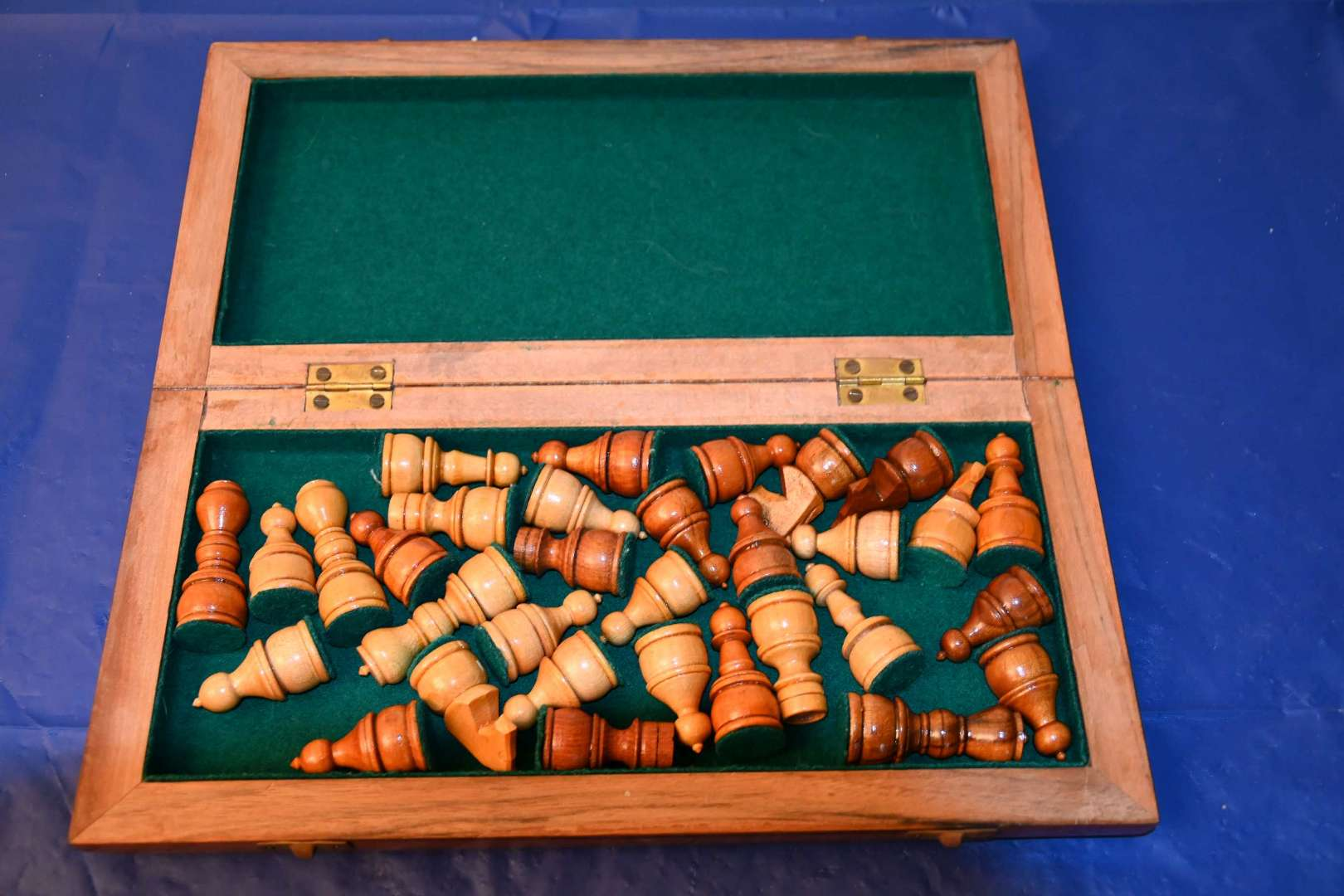 Lot # 3 Portable wooden chess set