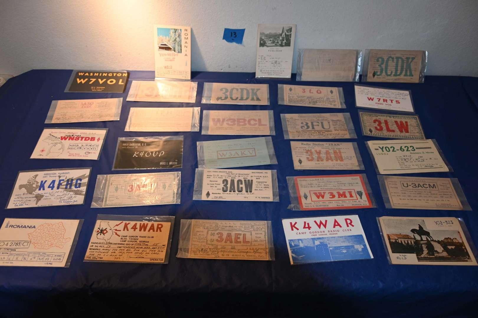 Lot # 13 QSL ham radio ID cards 1920s+