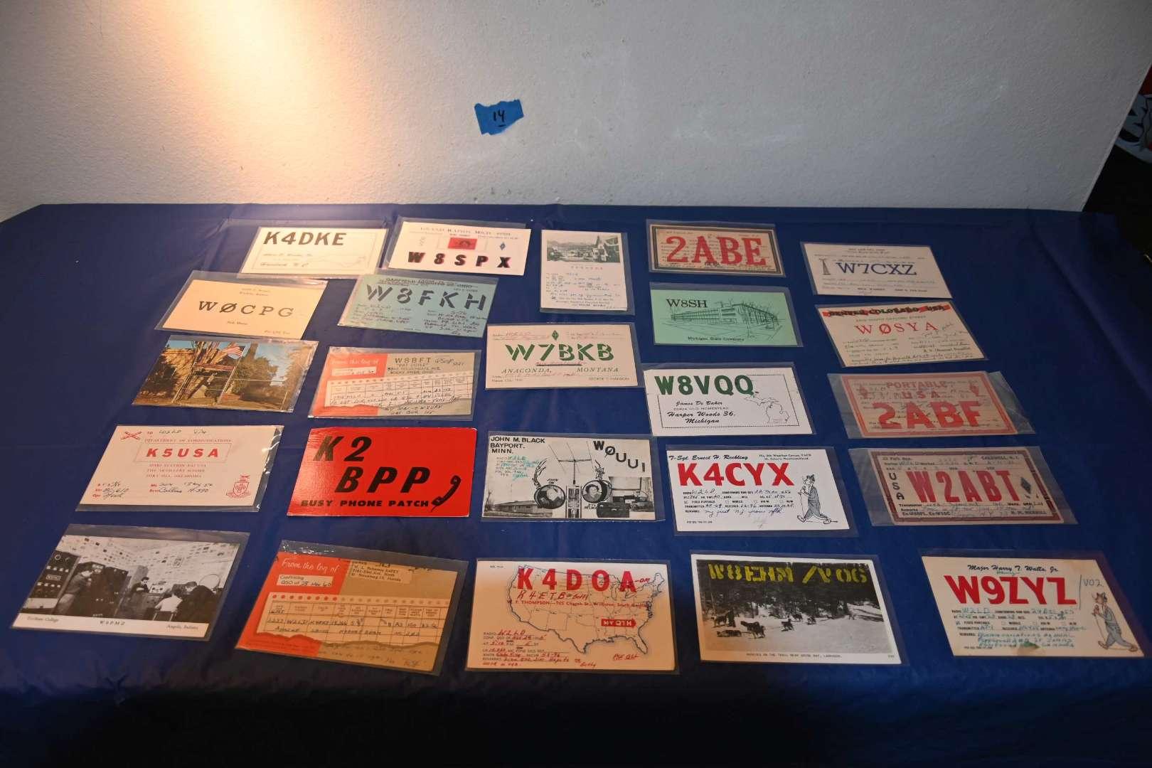 Lot # 14 QSL ham radio ID cards 1920s+
