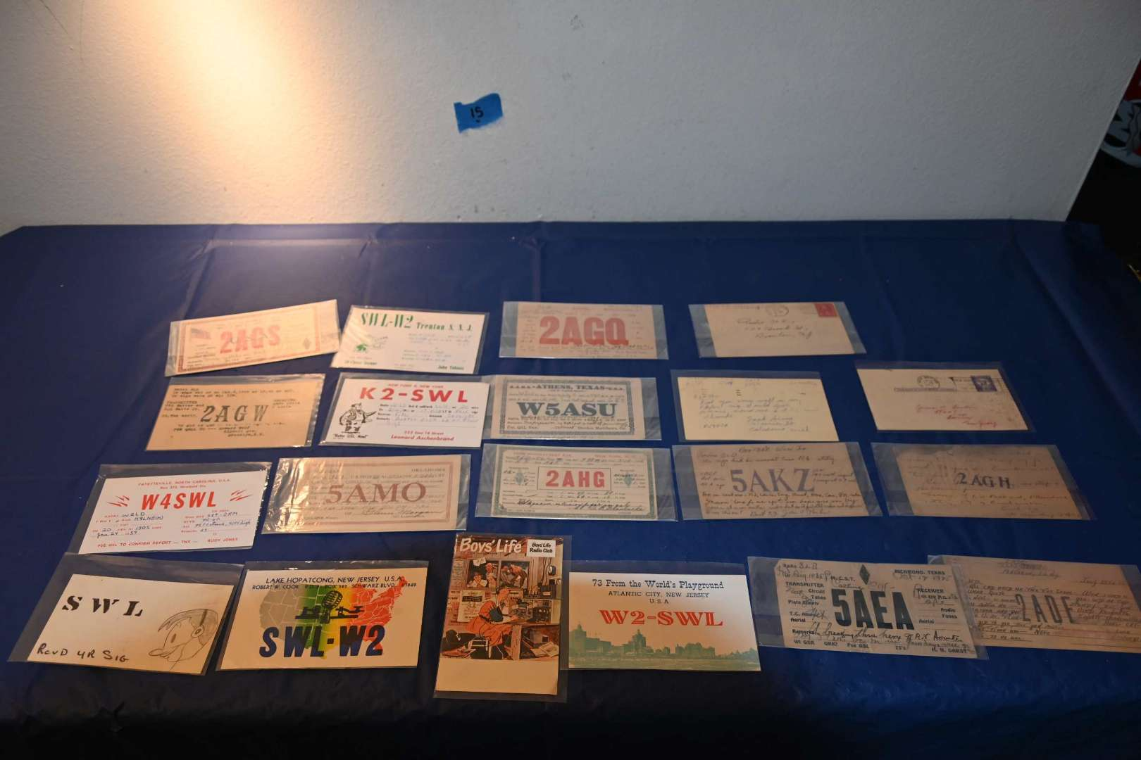 Lot # 15 QSL ham radio ID cards 1920s+
