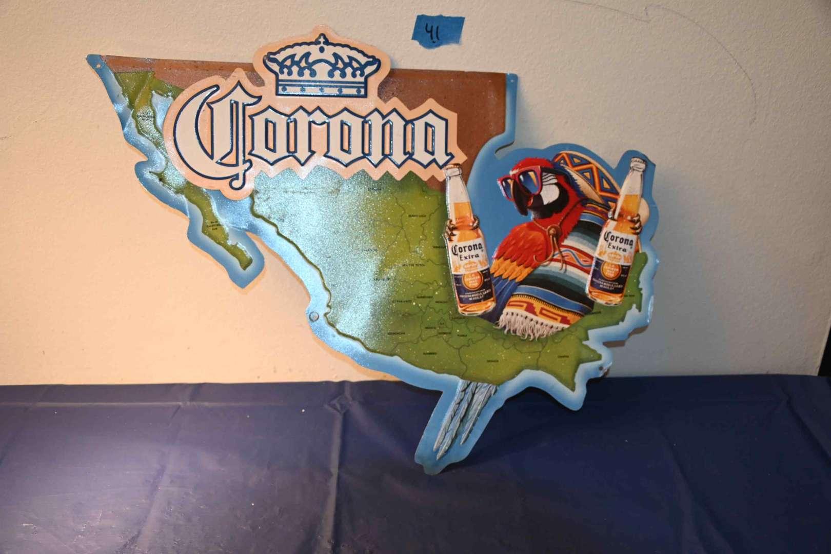 Lot # 41 CORONA EXTRA metal beer sign