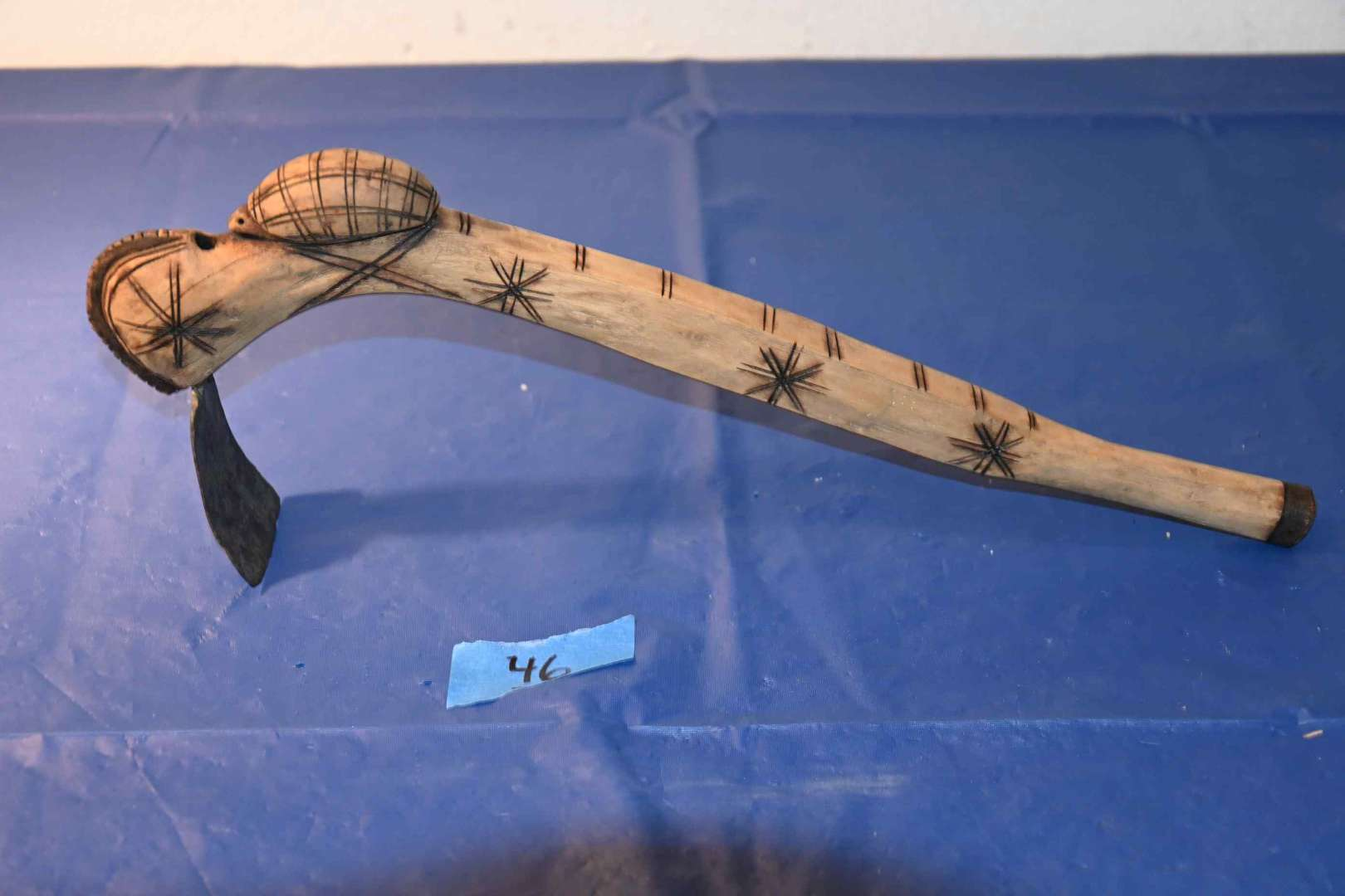 Lot # 46 African hand carved tool