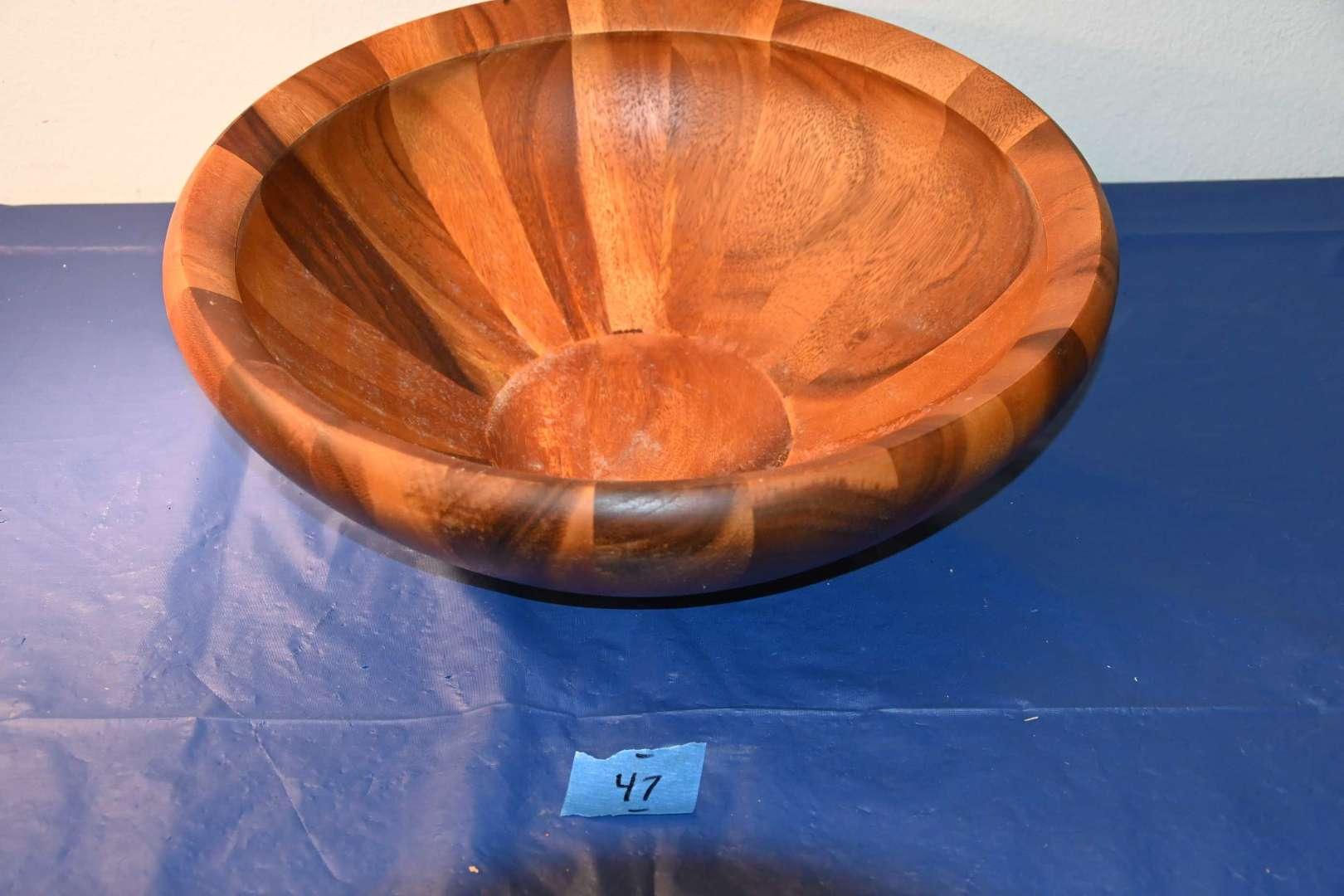 Lot # 47 DANSK Thailand wooden salad bowl