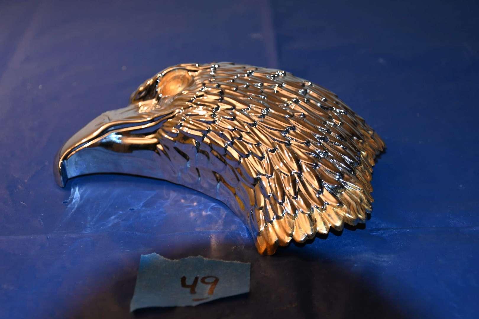 Lot # 49 Harley Davidson chrome eagle head