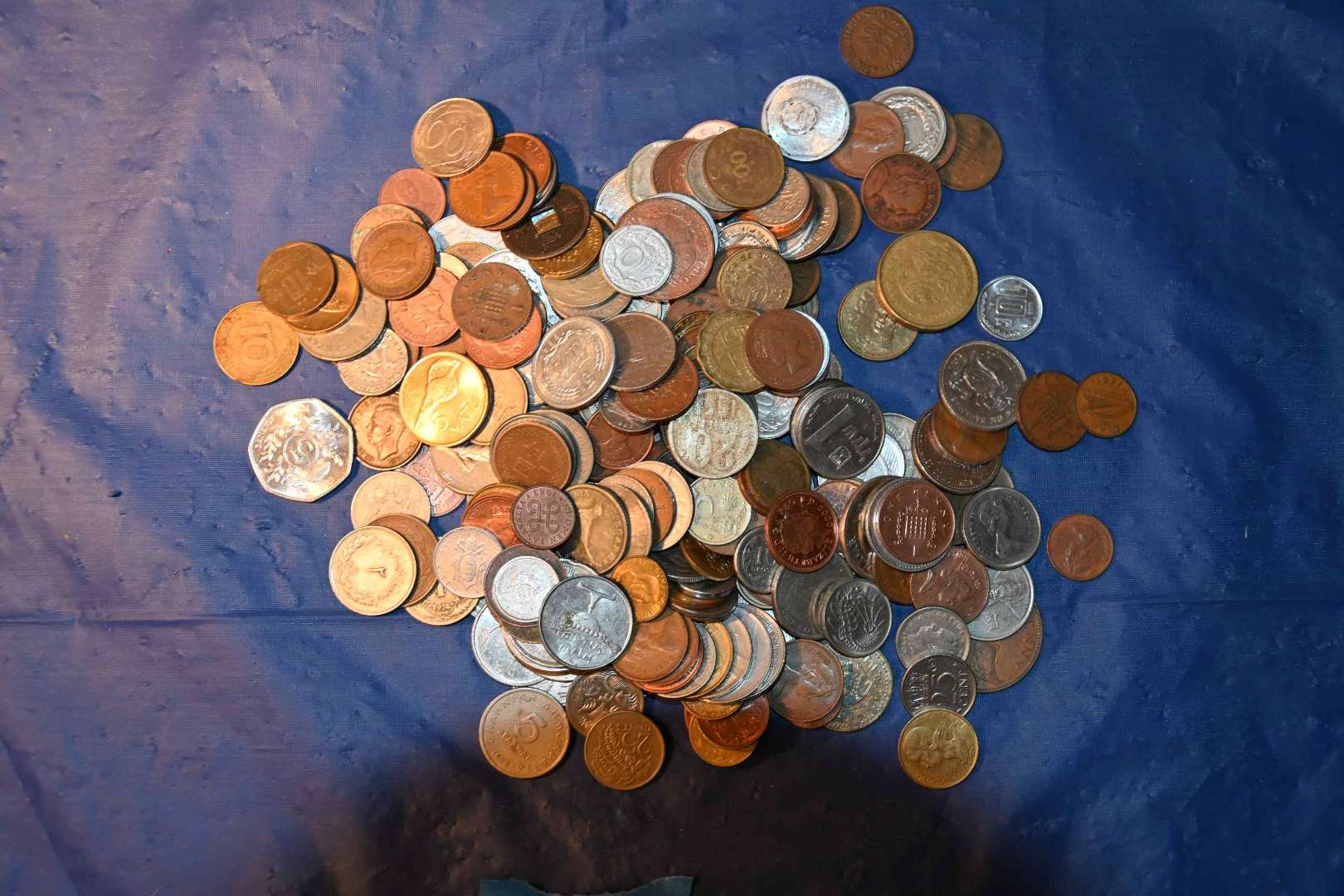 Lot # 55 Foreign coins lot over 2 pounds
