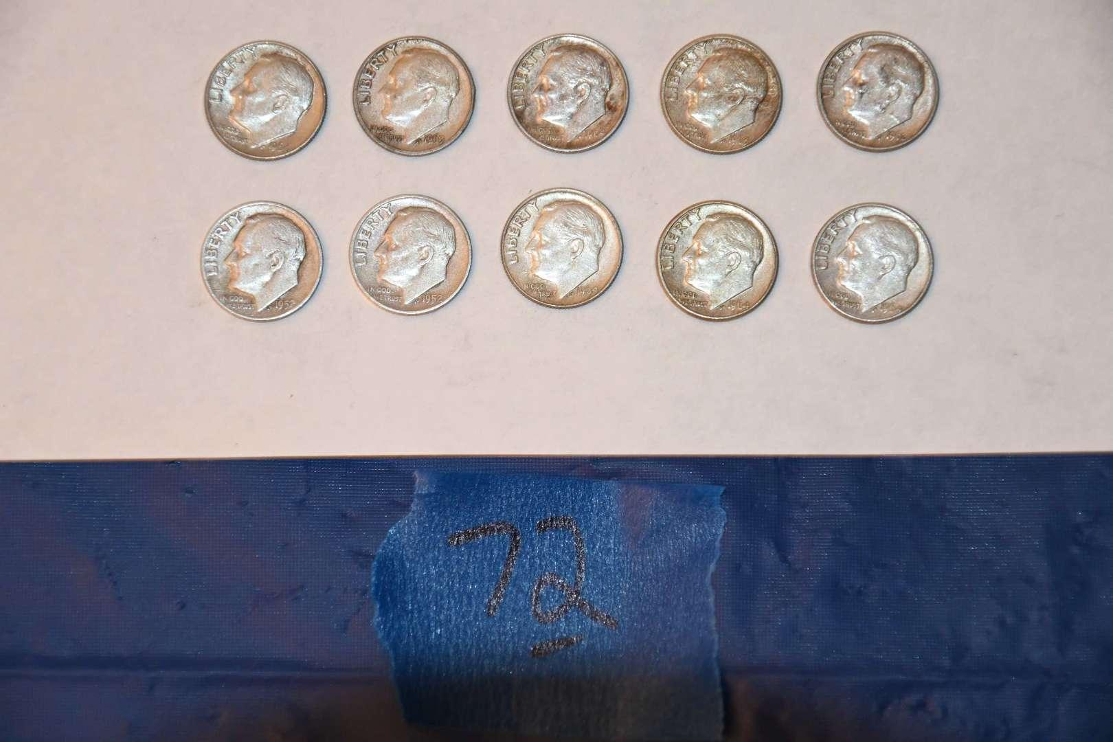 Lot # 72 Roosevelt silver dimes lot