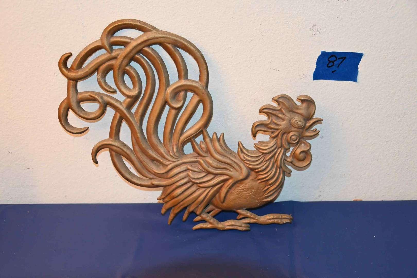 Lot # 87 VERMAY aluminum rooster wall art