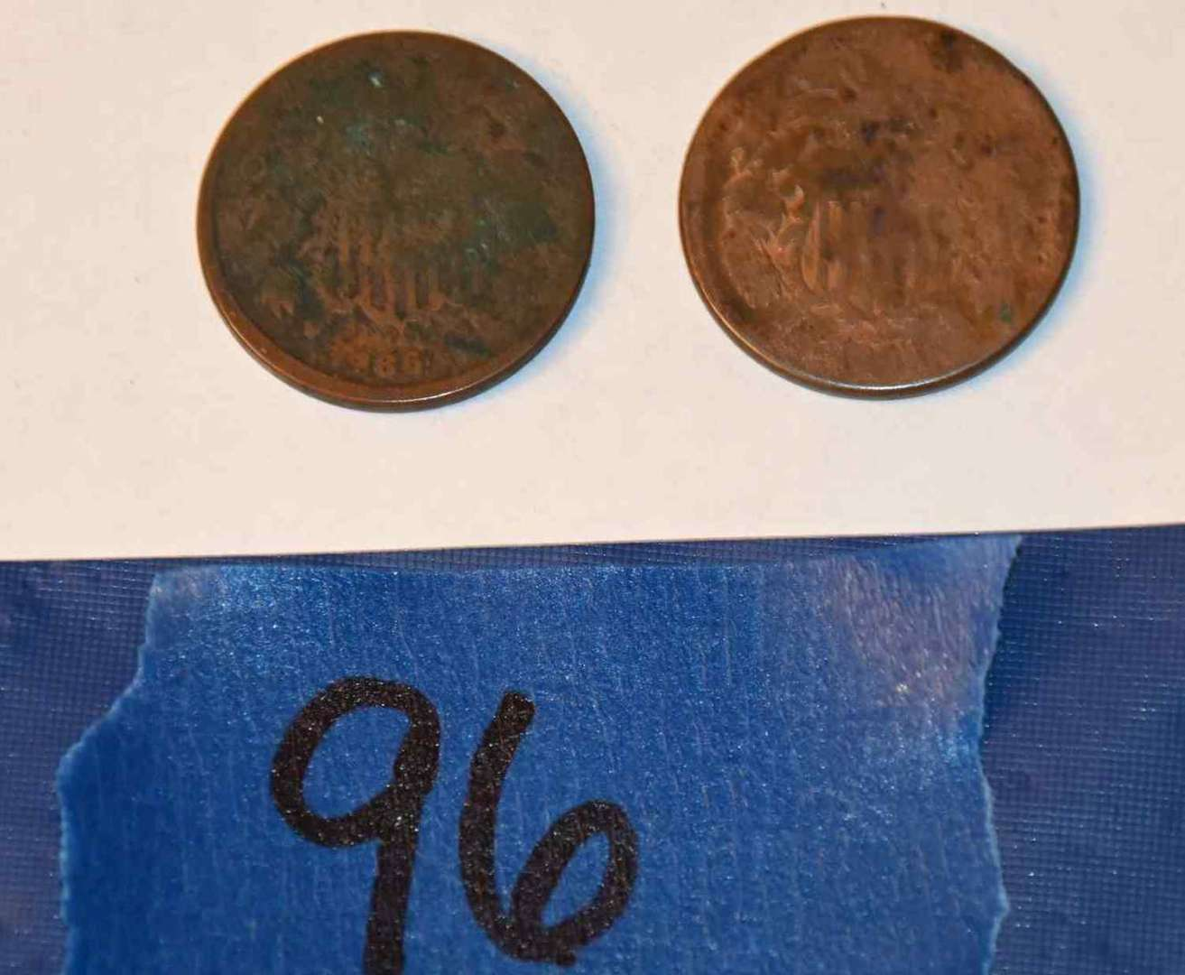 Lot # 96 Two 1864 2 cent coins