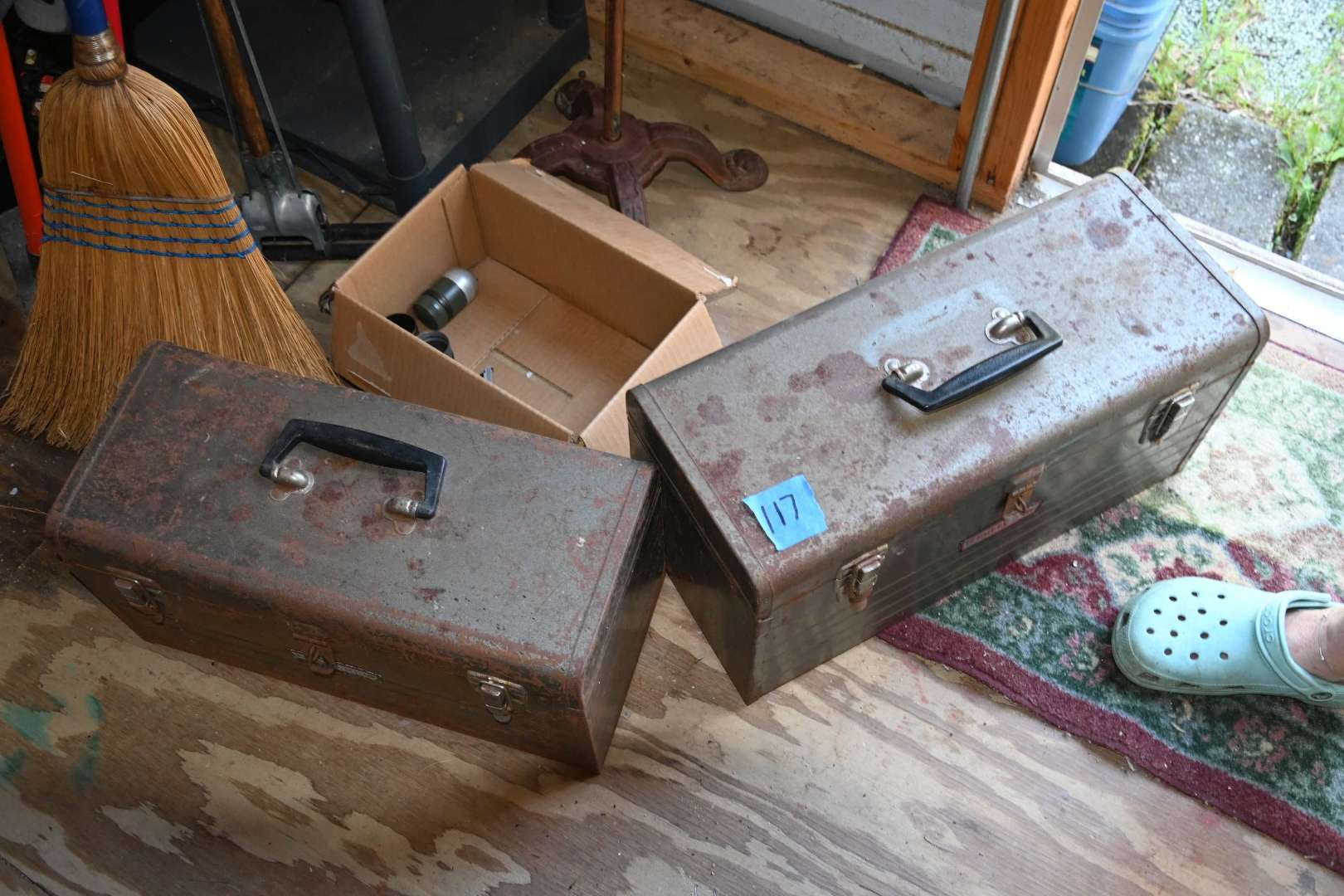 Lot # 117 Two CRAFTSMAN metal tool boxes with trays