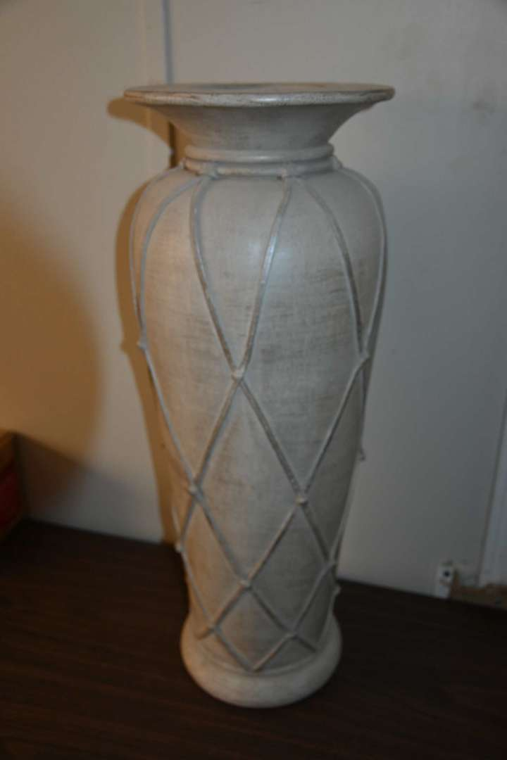 Lot # 126 Tall decorative vase