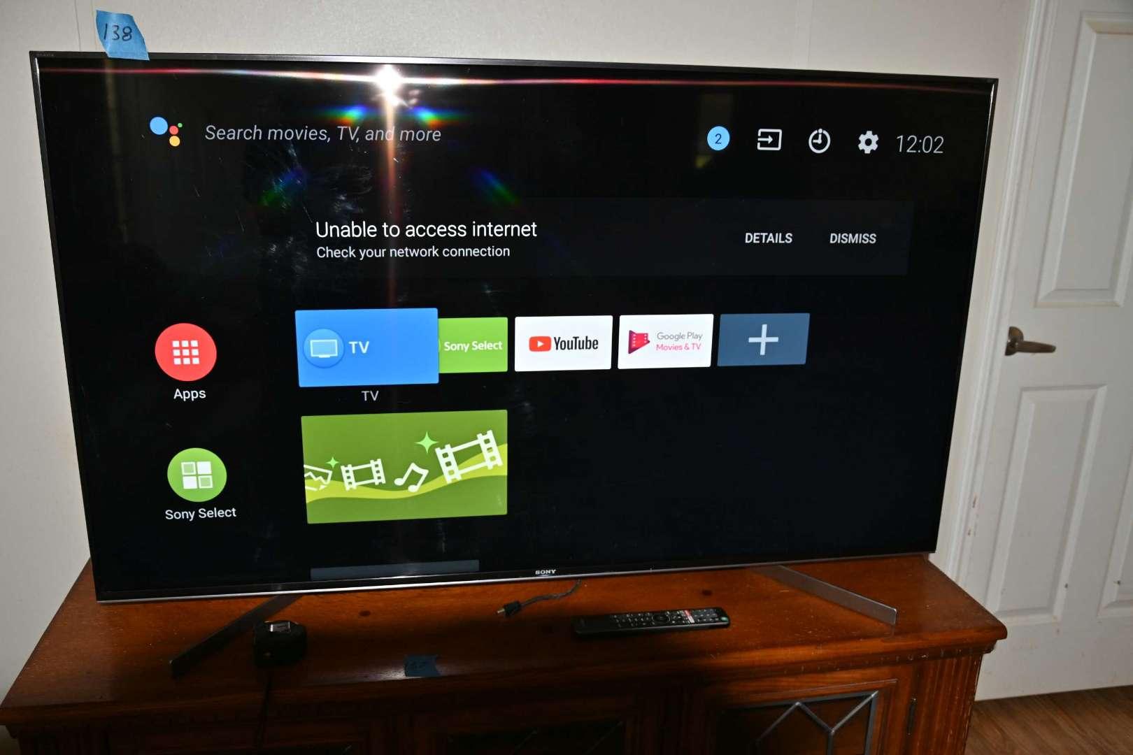 "Lot # 138 SONY BRAVIA 55"" XBR-55X950G flatscreen smart TV with remote"