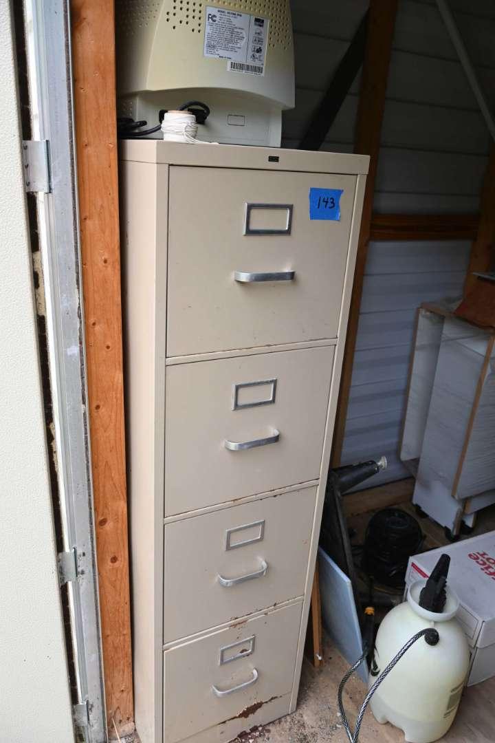 Lot # 143 4 drawer file cabinet - HON