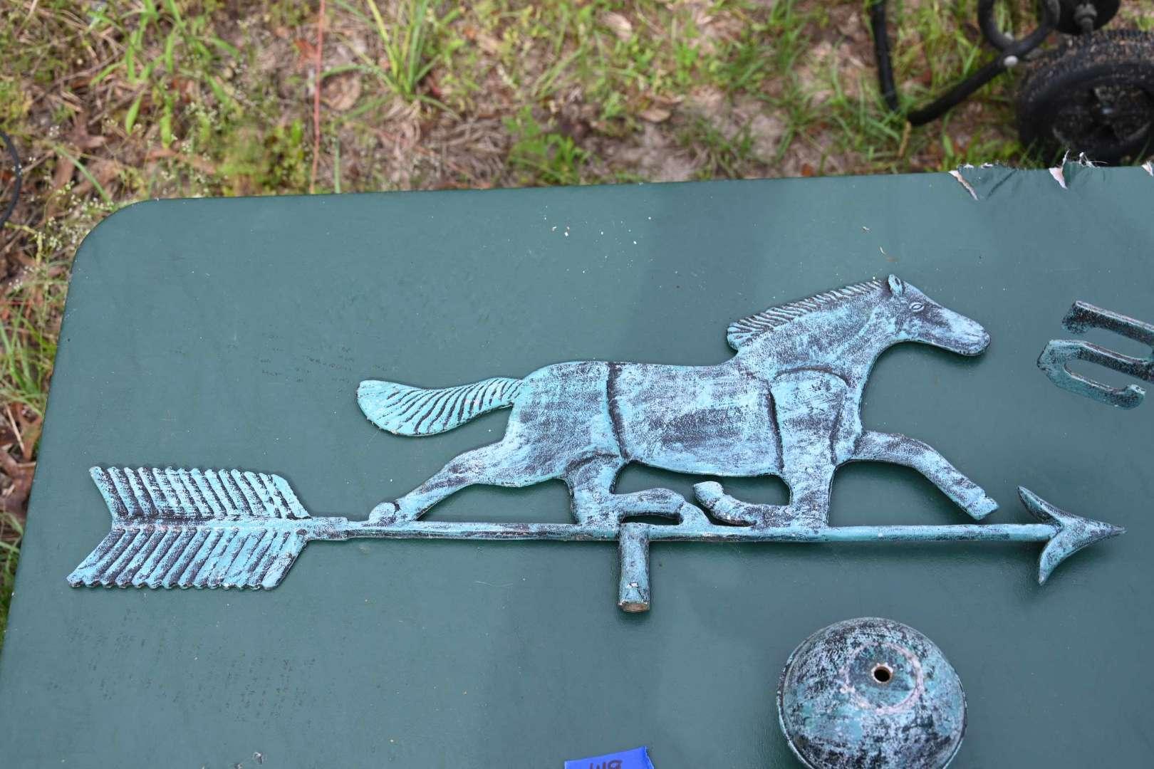 Lot # 149 Horse weather vane parts
