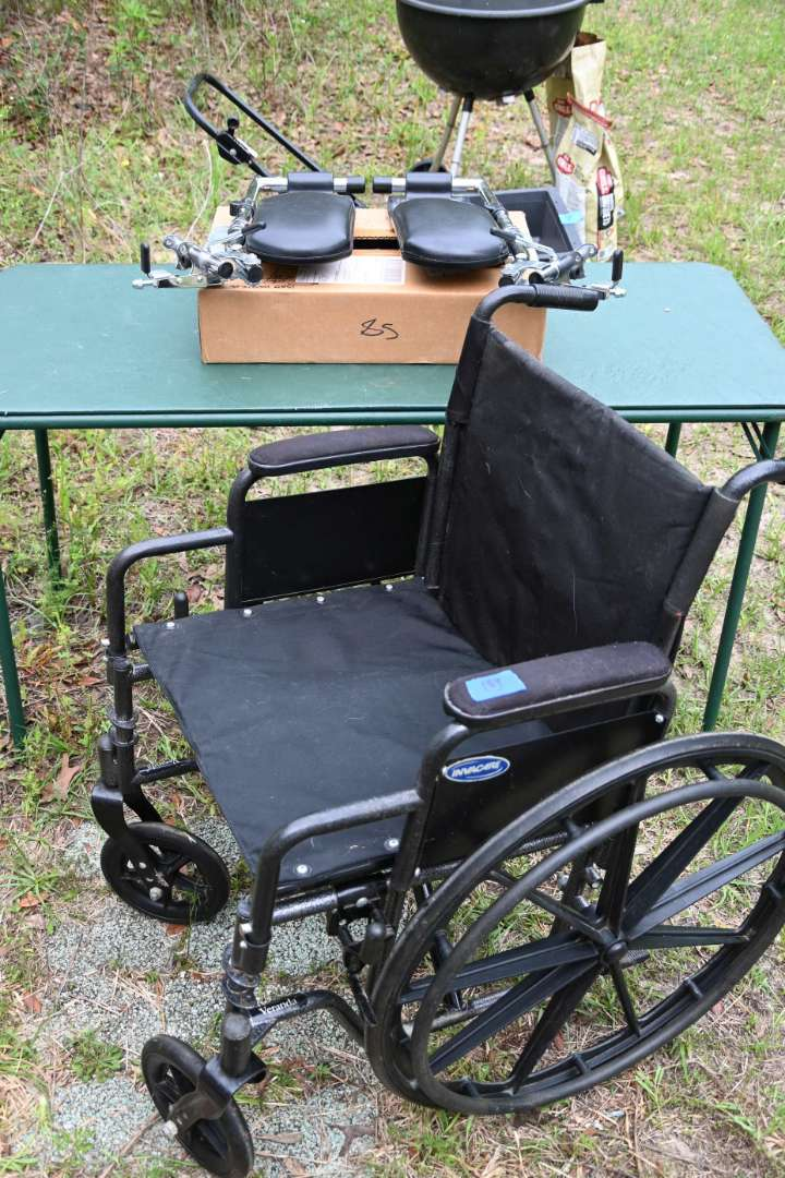 Lot # 154 Wheel chair with brand-new attachments