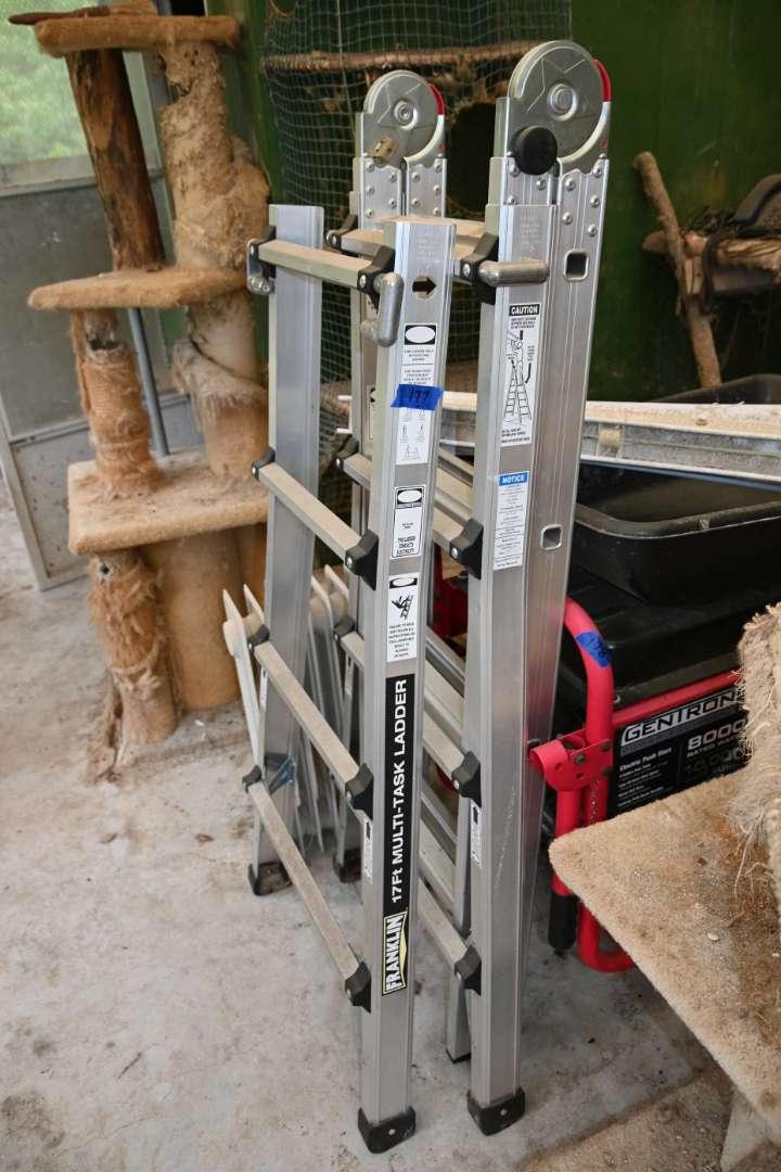Lot # 177 FRANKLIN 17 foot multitask ladder