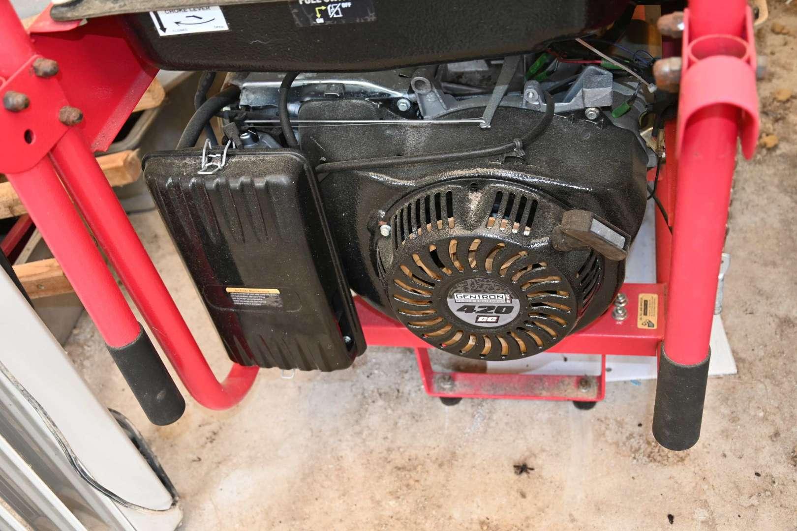 Lot # 178 GENTRON 10,000 watt generator electric push start