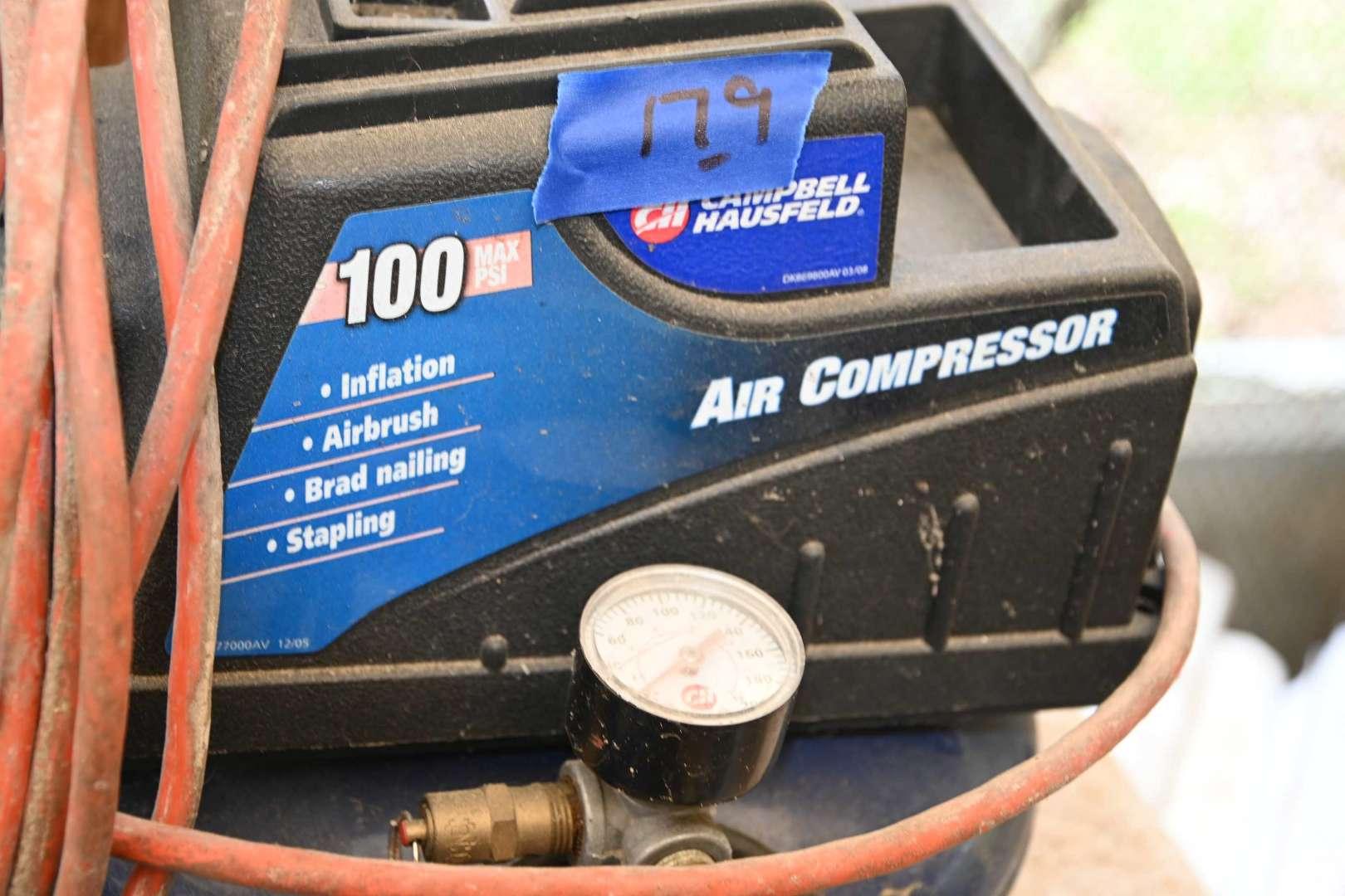 Lot # 179 100 psi pancake compressor