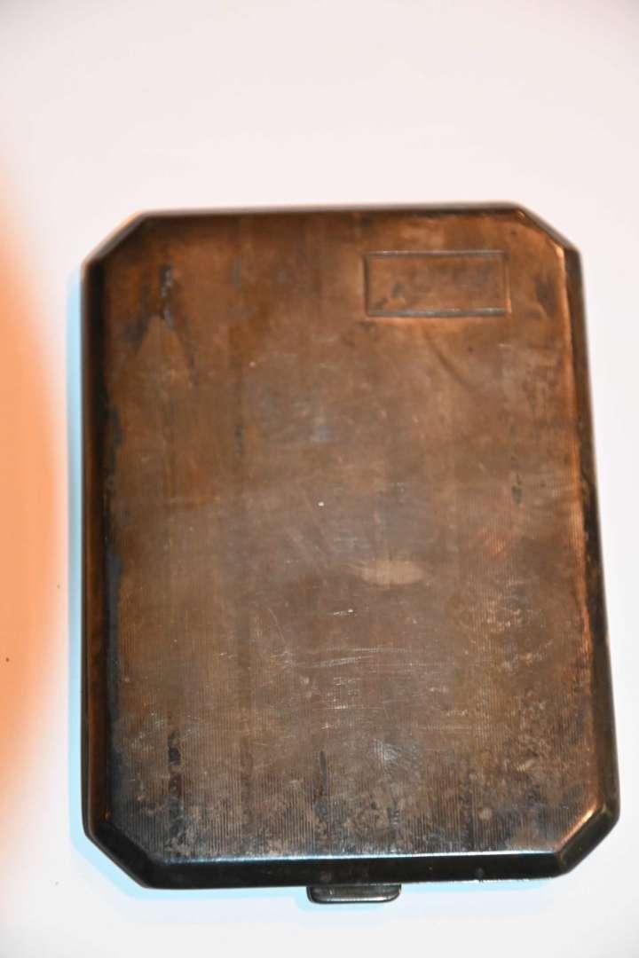 Lot # 191 WEBSTER STERLING .925 cigarette case 110.3g