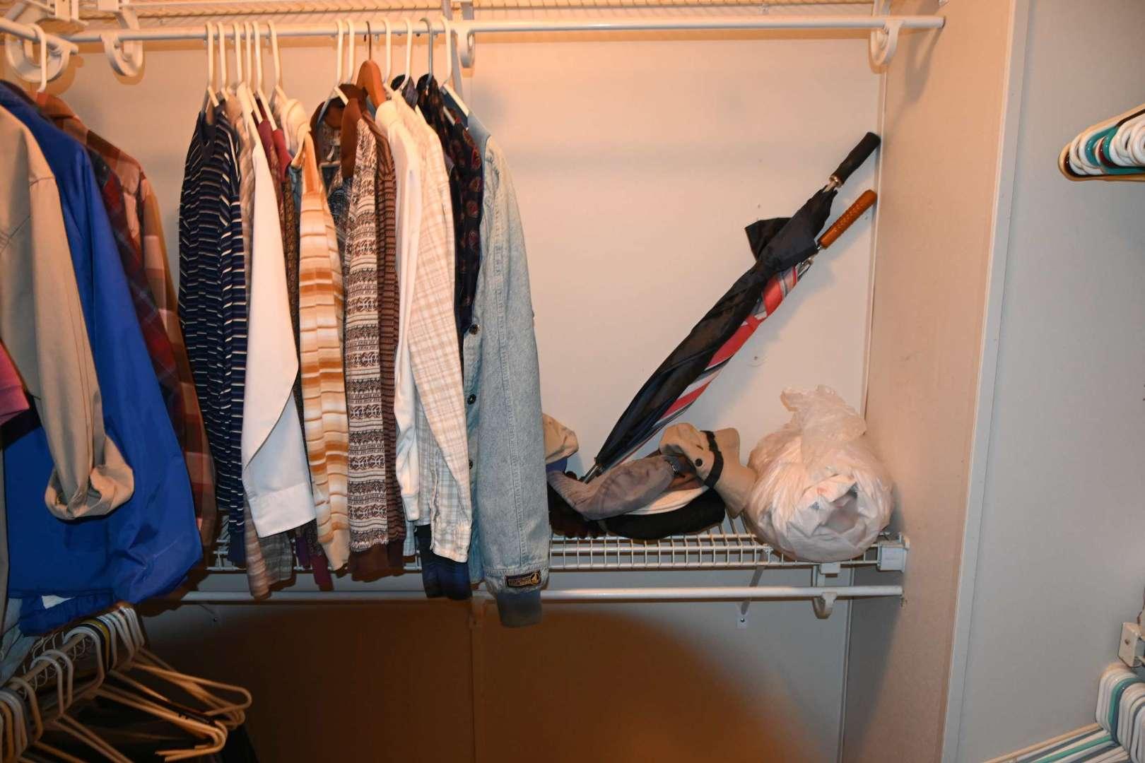 Lot # 196 Contents of master bedroom closet