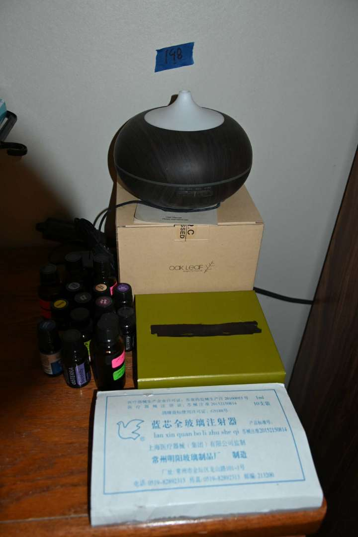 Lot # 198 Two OAK LEAF aromatherapy misters (one NEW) & a BUNCH of aromatherapy