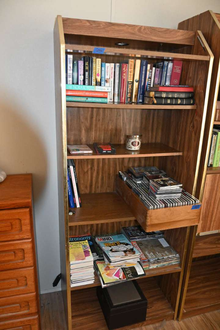 Lot # 206 Book case with lighting