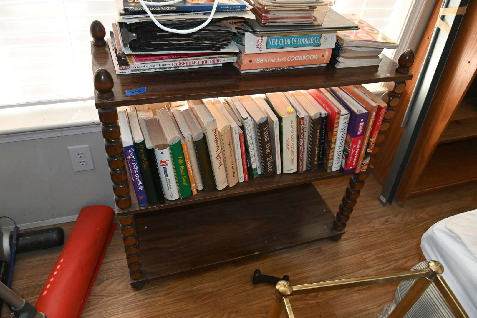 Lot # 212 Three shelf stand