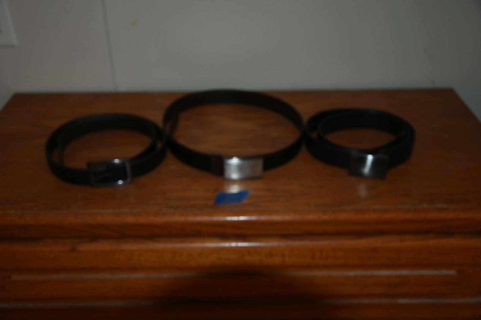 Lot # 214 Three leather belts