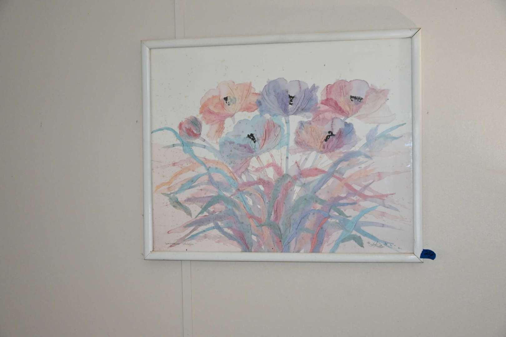 """Lot # 216 """"WHISPERING POPPIES"""" signed wall art"""