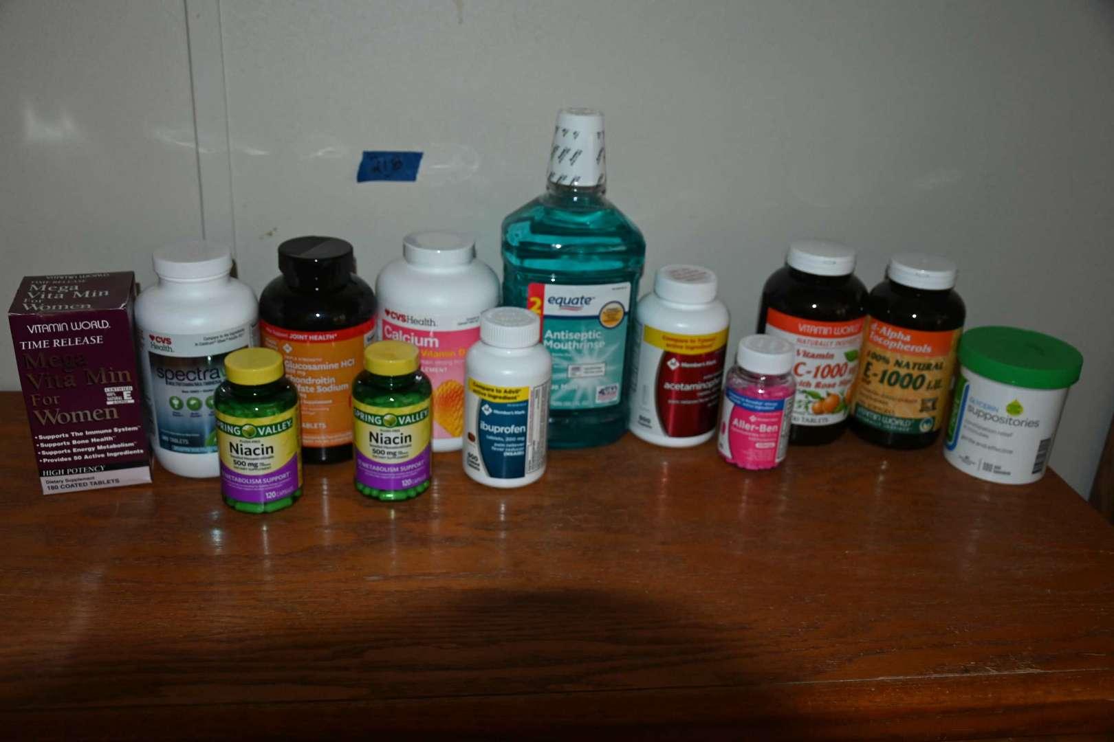 Lot # 218 Supplements, vitamins lot