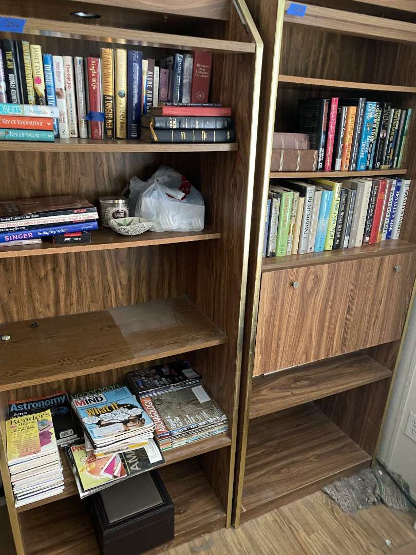 Lot # 221 Books and contents of 2 bookcases