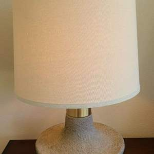 Auction Thumbnail for: Lot # 48 Pretty Table Lamp W/ Heavy Base
