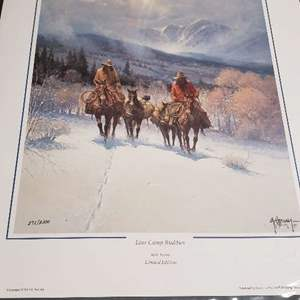 Auction Thumbnail for: Lot # 300 Lot of 2 Pretty Signed & Numbered Lithographs By Artists G. Harvey & Parker