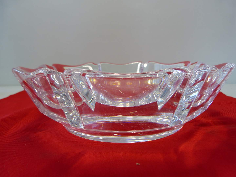 Lot # 38  Great & LARGE signed & numbered Orrifers crystal bowl (main image)