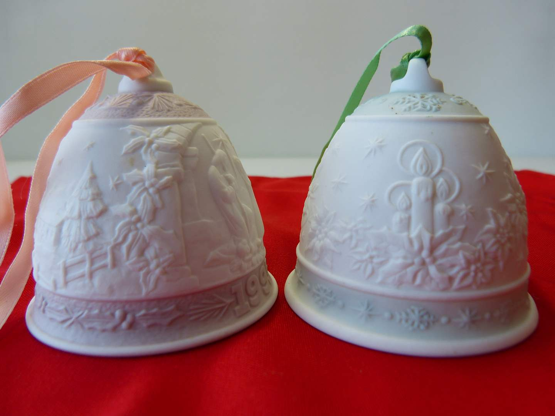 Lot # 44  2 LLADRO holiday bells (main image)