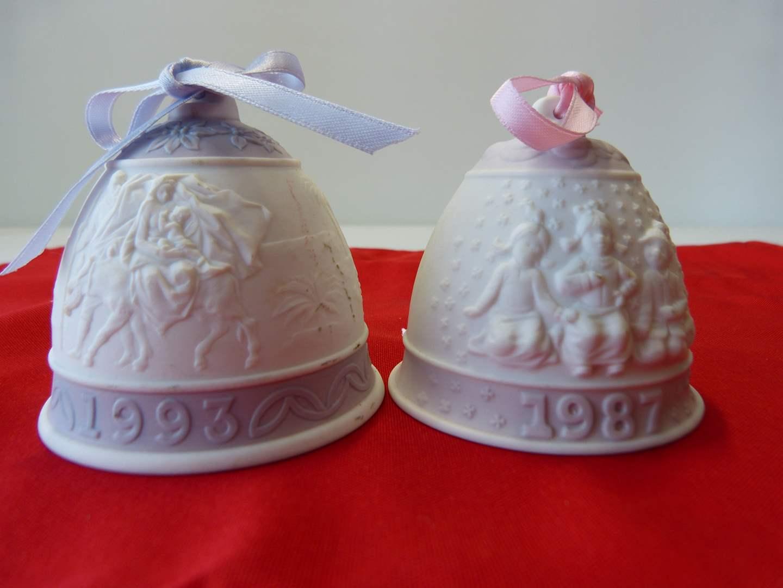 Lot # 45  2 LLADRO holiday bells  (main image)