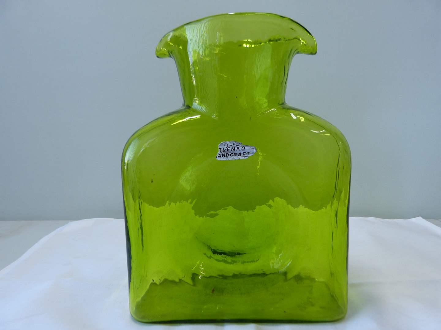 Lot # 49  Hand Crafted Blenko double pour pitcher (main image)