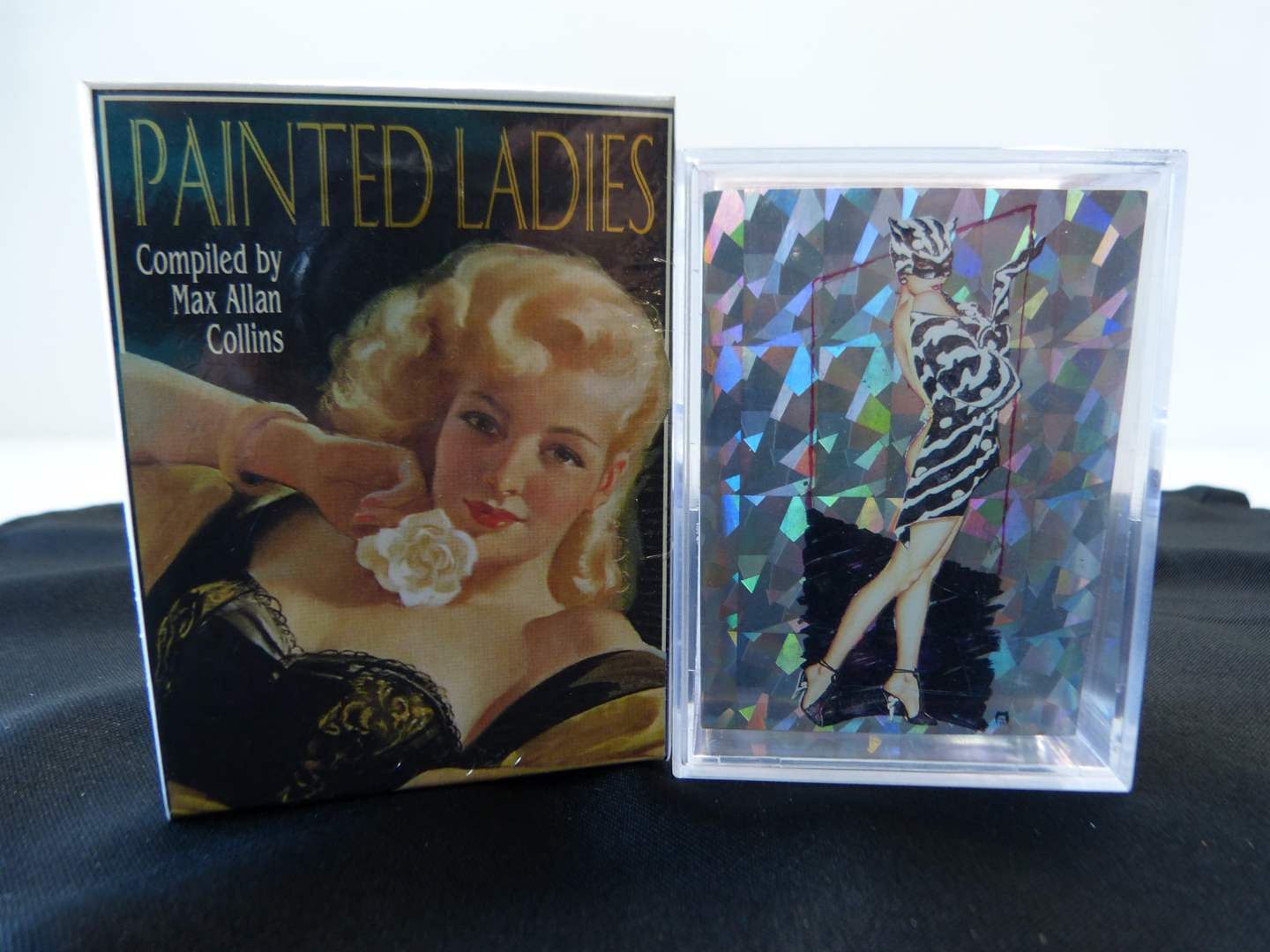 Lot # 57  2 boxes of painted ladies trading cards (main image)