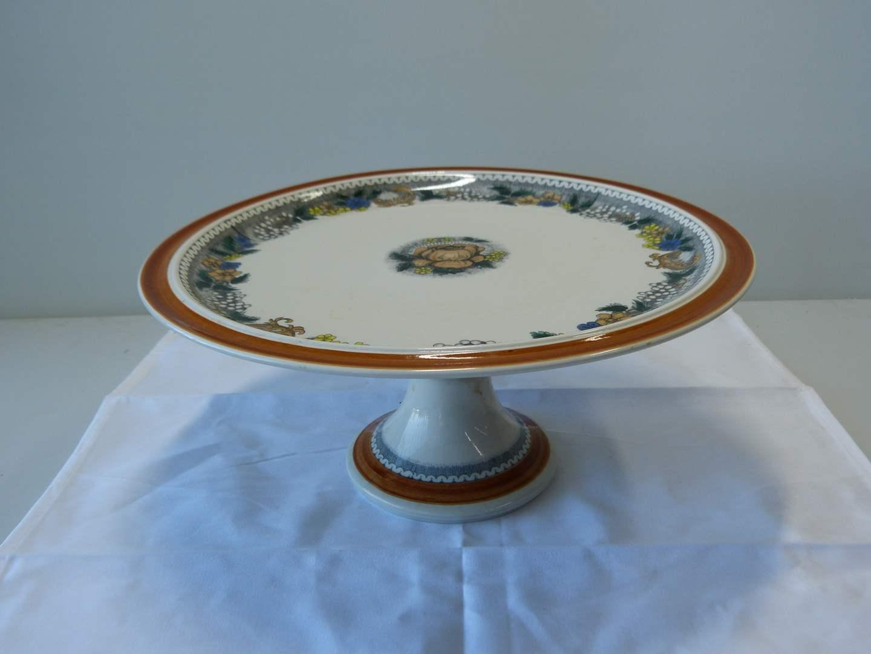 Lot # 63 Large Goebel (Hummel) pedestal cake platter  (main image)