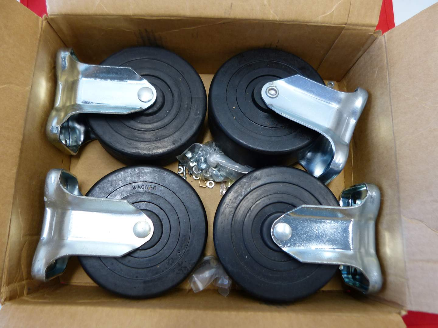 Lot # 87  4 HEAVY duty caster wheels (top of the line) (main image)