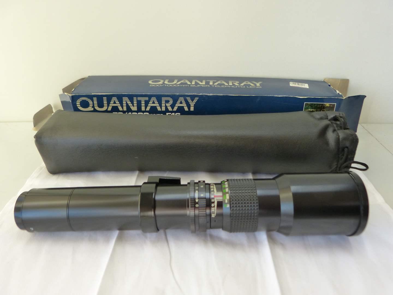 Lot # 102  Quantaray long scope lens 500MM-1000MM (main image)