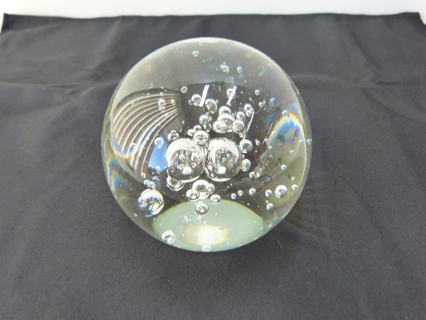 Lot # 104  Great hand signed (Large) paperweight (main image)