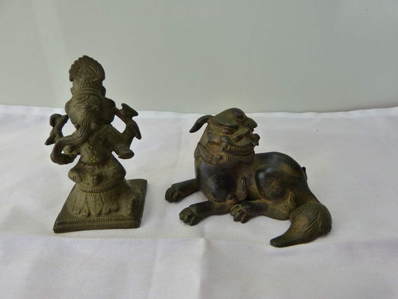 Lot # 109  2 great antique oriental figures  (main image)