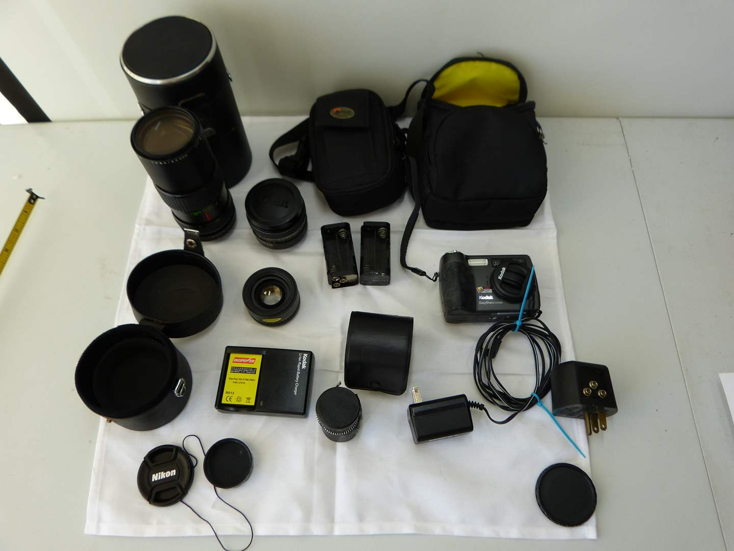 Lot # 122  LARGE collection of vintage camera items (main image)